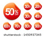 50  off discount sticker  set... | Shutterstock .eps vector #1450937345