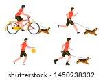 vector summer sport activities... | Shutterstock .eps vector #1450938332
