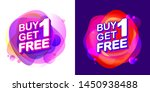 buy 1 get 1 free  sale tag with ... | Shutterstock .eps vector #1450938488