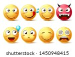 emoticon icons vector set.... | Shutterstock .eps vector #1450948415