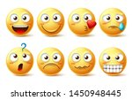 emoji face vector character set.... | Shutterstock .eps vector #1450948445