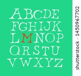 set of letters of the english... | Shutterstock .eps vector #1450967702