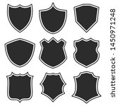 set shields with contour.... | Shutterstock .eps vector #1450971248