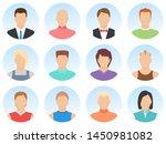 men avatar set isolated on...   Shutterstock .eps vector #1450981082