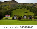 traditional icelandic houses... | Shutterstock . vector #145098445