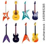 set of guitars isolated on... | Shutterstock .eps vector #1450985285