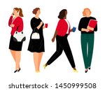 business women in formal... | Shutterstock .eps vector #1450999508
