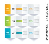infographics paper index with 3 ... | Shutterstock .eps vector #1451001218