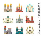 medieval castles. palace tower... | Shutterstock .eps vector #1451010392