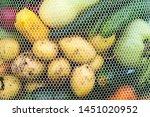 fresh vegetables in eco bag....   Shutterstock . vector #1451020952
