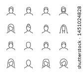 vector set of user line icons... | Shutterstock .eps vector #1451024828