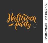 halloween party vector brush... | Shutterstock .eps vector #1451029772