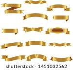 gold ribbon set inisolated... | Shutterstock .eps vector #1451032562