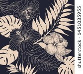 blossom floral pattern with... | Shutterstock .eps vector #1451035955