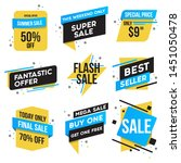 collection of sale discount... | Shutterstock .eps vector #1451050478