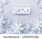 vector happy new year 2020... | Shutterstock .eps vector #1451092268