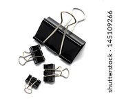 Binder Clip Isolated On White...