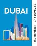 dubai. skyline and vector...   Shutterstock .eps vector #1451095268