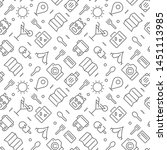 travel seamless pattern with...   Shutterstock .eps vector #1451113985