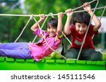 Happy Asian Child Playing Together - Fine Art prints