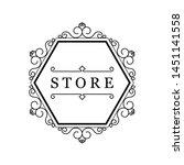 template for luxury logos ... | Shutterstock . vector #1451141558