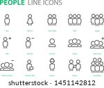 set of people icons user  man ... | Shutterstock .eps vector #1451142812