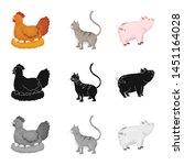 vector design of breeding and... | Shutterstock .eps vector #1451164028