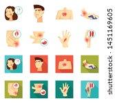 vector design of hospital and...   Shutterstock .eps vector #1451169605