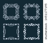 collection of decorative... | Shutterstock .eps vector #1451177195