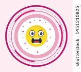 scared emoji icon in trendy... | Shutterstock .eps vector #1451210825