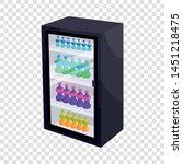 fridge with refreshments drinks ...   Shutterstock .eps vector #1451218475