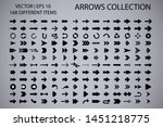 arrow isolated vector icons set.... | Shutterstock .eps vector #1451218775