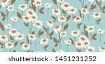 Vintage Style Floral Seamless...