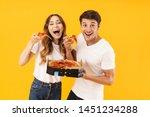 portrait of caucasian couple... | Shutterstock . vector #1451234288
