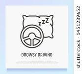 dowsy driving  steering wheel... | Shutterstock .eps vector #1451239652