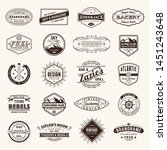 retro vintage insignias or... | Shutterstock .eps vector #1451243648