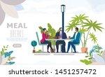 city street cafe  restaurant... | Shutterstock .eps vector #1451257472