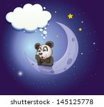 illustration of a panda... | Shutterstock .eps vector #145125778