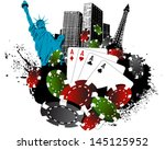 Stock vector la vegas poker city 145125952