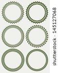 set of round frames | Shutterstock .eps vector #145127068