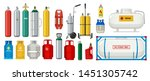 gas tanks. compressed oxygen... | Shutterstock .eps vector #1451305742