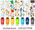 waste sorting. big collection... | Shutterstock . vector #1451317958