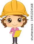 illustration of a kid girl... | Shutterstock .eps vector #1451324168