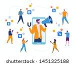 influencer marketing. potential ... | Shutterstock .eps vector #1451325188