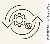 update line icon. gears in... | Shutterstock .eps vector #1451336972