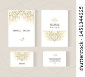 cover design with gold floral... | Shutterstock .eps vector #1451344325
