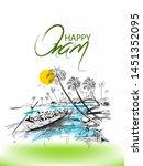 illustration of happy onam... | Shutterstock .eps vector #1451352095