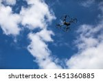 drone quadcopter with digital...   Shutterstock . vector #1451360885