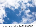 drone quadcopter with digital...   Shutterstock . vector #1451360888