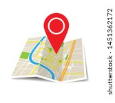 location icon vector. pin sign... | Shutterstock .eps vector #1451362172